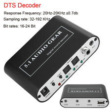 Audio Decoder 5.1CH Digital DTS Optical Coaxial Toslink to Analog Converter USB