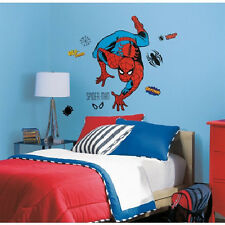 """CLASSIC AMAZING SPIDERMAN wall stickers MURAL 24 decal Marvel 38"""" tall superhero"""