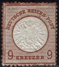 Germany Sc 25a Mi 27b 1872 9kr Lilac Large Shield Mint Photo Certificate CV$1400