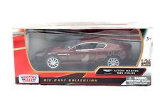Aston Martin Db9 Coupé 2006 Burdeos Nuevo en Caja Motor Max 1/24 de Metal