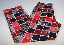 Essendon Bombers AFL Mens Red Squares Print Flannel Sleep Pants Size L New
