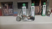 Motorcycle chopper 1:18 Showcasts Grey Diecast Metal & other material