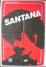 SANTANA - AFFICHE ORIGINALE - TRES RARE – ZEBOP - CBS - 1981