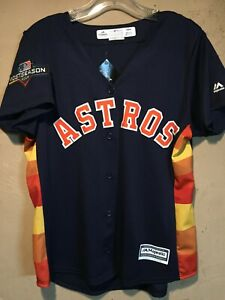 Houston Astros MLB Majestic Women's Fan Fashion Playoff Jersey in size M NWT
