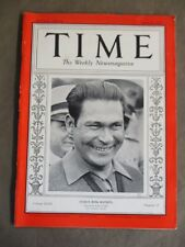 Vintage Time Magazine April 26,1937  Cuba's Boss Bautista cover