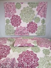 Tommy Hilfiger Full Queen Comforter Hibiscus Hill pink and green floral 2 Shams