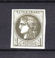 "FRANCE STAMP TIMBRE 39 A "" CERES BORDEAUX 1c R1 OLIVE "" NEUF (x) TB A VOIR R558"