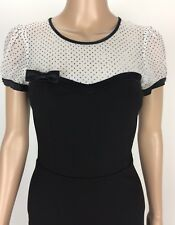 Review Australia Size 6 Women's Party/Cocktail Works Sheath Dress Black White