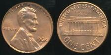 United States, 1968-D One Cent, Lincoln Memorial - Uncirculated