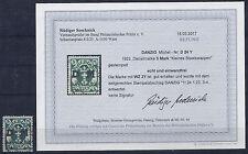 Danzig Mi.Nr. D 24Y (liegendes WZ) gestempelt, Befund R.Soecknick, siehe Foto