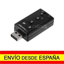 Adaptador Tarjeta de Sonido Externa USB 7.1 AC3 MP3 2.0 Audio Sound MIC a0297