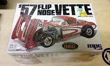 Mpc '57 Flip Nose Vette Street Racer Car Model Kit #38433 Opened