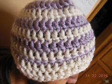 Women TEEN Crochet SKI Hat CAP Beanie USA-Handmade Brand New WHITE CHUNKY-FREE S