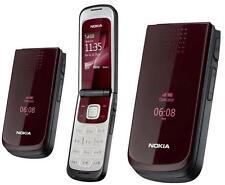 Pliegue Abatible Rojo Nokia 2720 Cámara Big Button Gran Pantalla Grande Fuente Desbloqueado En Caja