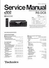 Technics Service Manual für RS-DC 8