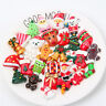 20Pcs Mixed Christmas Gift Resin Flatback Slime Beads for DIY Scrapbooking Craft