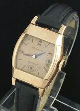 VINTAGE BENRUS MENS WRIST WATCH – ROSE GOLD COLOR CASE & DIAL
