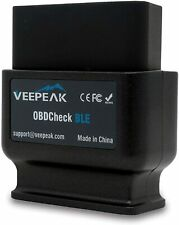 Veepeak OBDCheck BLE Bluetooth 4.0 OBD2 Scanner Adapter for iOS & Android Car in