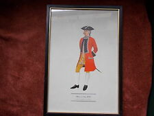 MILITARY FRAMED PRINT  BY P H SMITHERMAN (hugh evelyn print)(officer 21st foot)