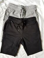 "2 Pairs Of ASOS Design Jersey Skinny Shorts In Grey Marl & Black XXS W 26 - 28"""