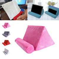 Tablet Pillow Holder Stand Foam Book Rest Bed Support Cushion For iPad Phone