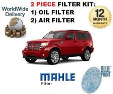 Per DODGE NITRO 3.7 i V6 2007 > NUOVO 2 Filter Service Set Olio Filtro Aria Kit