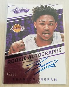 Brandon Ingram 2016-17 Panini Absolute Rookie Autograph Auto /99 *damaged back*