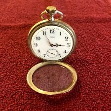 ANTIQUE Collectable OMEGA Pocket Watch 0.80 Sterling Silver 0.80 w/ Rose Gold