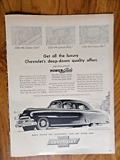 1951 Chevrolet Styleline DeLuxe 2 Dr Sedan Ad Power Glide Automatic Transmission