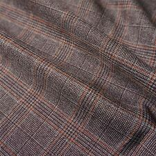 Textured Country Check Poly Viscose Suiting Fabric - 3 Colours (Per Metre)