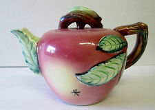 VINTAGE ESD POTTERY HAND PAINTED JAPAN APPLE TEAPOT""