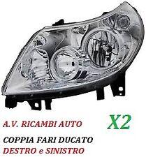 coppia Fari Fanale PROIETTORI ant dx e sx FIAT DOBLO/' 05/> H7-H1 C//MOTOR ELETT.