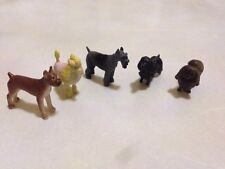 Five small plastic dogs Pedigree breeds Dolls House Dogs animal pets