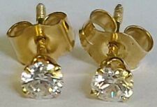 Darling Childs 3.3 Round Cubic Zirconia CZ Stud Post Earrings 14k Yellow Gold