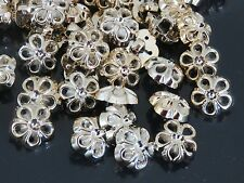 10  Lovely GOLD Daisy Buttons  with shank 12 mm  very preety  Craft, sewing,