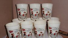 VINTAGE WYLER'S FAMILY CIRCUS COMIC PLASTIC CUPS ADVERTISING PROMO EUC LOT OF 11