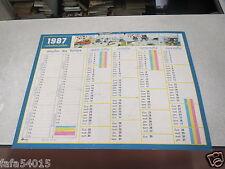 ALMANACH PTT CALENDRIER SCOLAIRE 1987 1988 FRANQUIN SEPP LICENCE ALPA OBERTHUR *