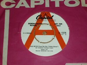 """PEGGY LEE - Pass Me By - UK DEMO 7"""" - CAPITOL CL 15376"""