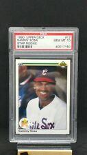 1990 Upper Deck Sammy Sosa #17 Baseball Rookie Card RC Graded PSA 10 GEM MINT!