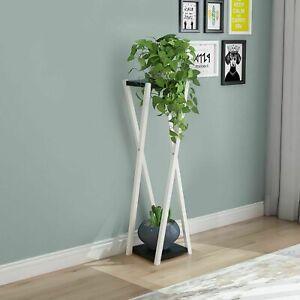 60cm Metal Plant Pot Rack Tall Floor Stand Holder Freestanding Flower Display