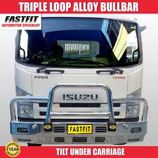 Isuzu FRR Truck, Fastfit Polished Aluminium Heavy Duty Bull Bar Truck Bullbar