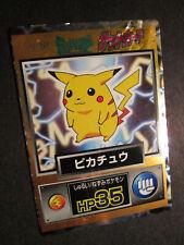 PL(damaged) JAPANESE Pokemon PIKACHU Card MEIJI PROMO Nintendo HP35 Holo Foil AP