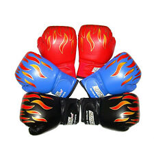 Kids FIRE Boxing Gloves Sparring Punching Fight Training Age 3-12 LJ