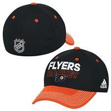 Philadelphia Flyers NHL Adidas Black Two Tone Locker Room Hat Cap Mens Flex L/XL