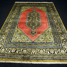 Orient Teppich Seide 124 x 81 cm Rot Seidenteppich Perserteppich Red Silk Carpet