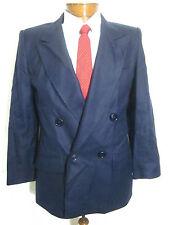 Vtg Mens 39S Giorgio Sant Angelo Navy Wool Dbl Breasted Jacket Sport Coat Blazer