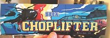 Choplifter arcade marquee sticker. 3 x 9.5. (Buy any 3 stickers, Get One Free!)