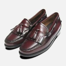 Burgundy Ladies Bass Tassel Loafers