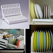 Foldable Dish Plate Drying Rack Organizer Holder Drainer Kitchen Storage Gadgets