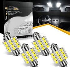 4pcs Bright White 31MM 12-SMD Festoon Dome Map Interior LED Light bulbs DE3022